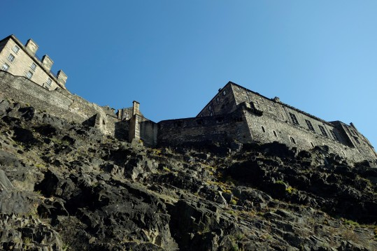 Outside Edinburgh Castle